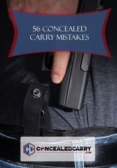 This list of concealed carry mistakes was compiled to help firearm owners and concealed carry permit holders grow their skills and identify unsafe behavior Firearms Women Concealed Carry Women, Concealed Carry Holsters, Gun Holster, Guns And Ammo, Firearms, Hand Guns, Just In Case, Carry On, Weapons