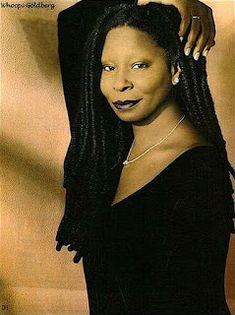 Black Actresses, Black Actors, Black Celebrities, Celebs, Whoopi Goldberg, Beautiful Black Women, Beautiful People, Vintage Black Glamour, Pelo Natural