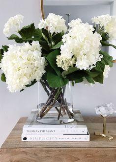 Decorating with White Hydrangeas