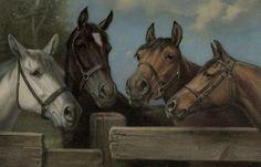 Bred in the Purple (Horses) : Robert Atkinson Fox  #VintageCommercialArt