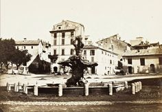 Piazza Barberini (1862) Best Cities In Europe, Dolores Park, Street View, History, Painting, Rome Italy, Photos, Italia, War