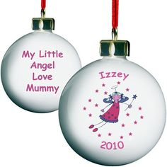 Personalised Little Angel Bauble  from Personalised Gifts Shop - ONLY £9.99