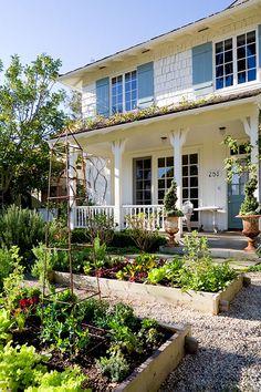 raised bed garden via Brooke Giannetti