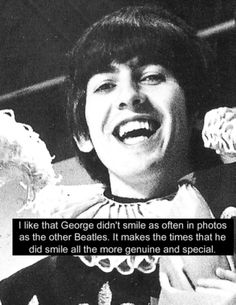 I Like That George Didnt Smile As Often In Photos The Other Beatles