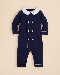 Ralph Lauren Infant Boys' Double Breasted Coverall - Sizes 3-12 Months