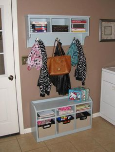 Cubby Bench And Storage Shelf W Hooks Diy Projects