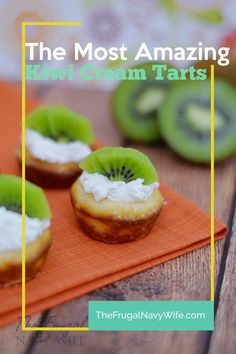 Looking for some great summer fruit tart recipes? This Kiwi cream tart recipe is easy to make tastes amazing and is a great way to get kids to eat kiwi! #frugalnavywife #kiwitart #recipe #desserts #easyrecipe | Summer Dessert Recipes | Kiwi Tarts | Tart Recipe | Kiwi Recipe | Desserts | Recipe | Easy Recipes Summer Dessert Recipes, Easy No Bake Desserts, Desert Recipes, Tart Recipes, Easy Cake Recipes, Cupcake Recipes, Kiwi Tart Recipe, Kiwi Dessert, Cake Mix Cookies
