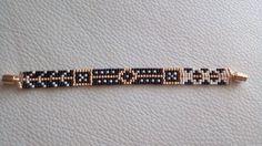 Luxurious Dots bracelet, Handmade bracelet, Beaded bracelet, Miyuki glass beads, Magnetic clasp, Geometric bracelet, Statement jewelry by SouSouHandmadeArt on Etsy https://www.etsy.com/listing/476291494/luxurious-dots-bracelet-handmade