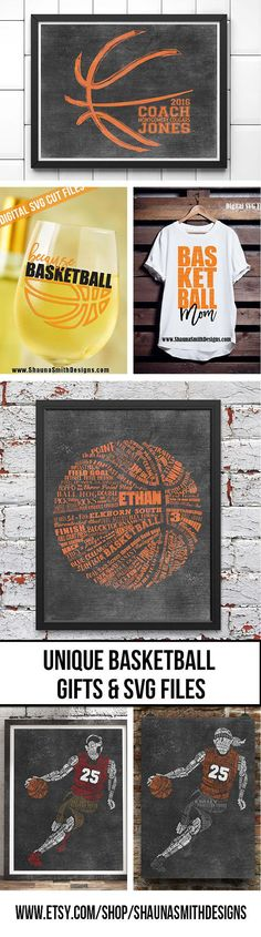 PERSONALIZED BASKETBALL Coach Gift Basketball Wall Decor