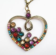 £5 Purple Topped Heart Necklace