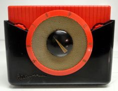 Mid-century Westinghouse Tube Radio:  I own this one--it has a cool, gold carry handle not shown in this photo