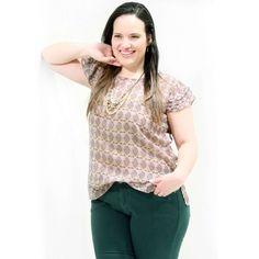 Túnica Lís Tomas Blusa plus size em musseline estampado decote redondo e mangas curtas com tomas #tunicaplussize #plussize #modaplussize #modaplussizebrasil #mulherplussize #mulheresplussize #tamanhogrande #vickttoriavick #modaplussizebr #plussizebrasil #plussizefashion #modagg #moda #fashion #feitonobrasil #plussizes #plussizebr #gordinhasdobrasil #modafemininaplussize #somosplussize #lojaplussize #lojafeminina #mulheresreais