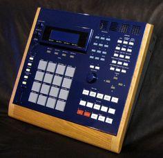 My custom Akai MPC 3000 drum machine, pimped by FORAT with wood end panels, and genuine Lexus metallic blue paint job.