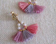 Bohemian tassel earrings Boho earrings Gypsy by MiniTasselDesigns