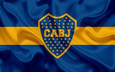 Download wallpapers Club Atletico Boca Juniors, 4k, Argentine Football Club, BJ, emblem, Boca Juniors logo, First Division, Superliga Argentina, Argentina Soccer Championship, football, La Boca, Buenos Aires, Argentina, silk texture