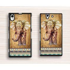 vivid elephant Sony case,wood elephant Sony xperia Z1 case,elephant pattern xperia Z2 case,new design xperia Z case,personalized sony xperia Z3 case,Christmas present - Sony Case