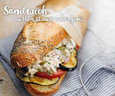 Un délicieux #sandwich au thon et aux aubergines pour un repas rapide et gourmand.