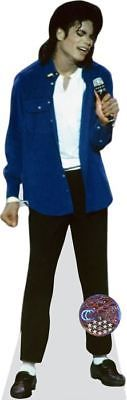 Other Party Supplies 3200: Michael Jackson (Blue Shirt) Cardboard Cutout (Lifesize Or Mini Size). Standee. -> BUY IT NOW ONLY: $87.47 on eBay!