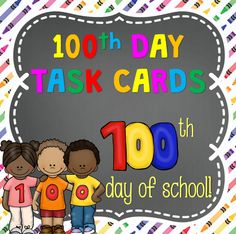 This set of Task Cards includes 24 Task Cards for the 100th day of school. These are great to use throughout the week and can also be used as an activity for your centers.