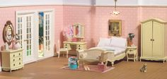 Dollhouse Bedrooms - Timeless elegance is tres chic from dheminis.com