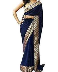 Indian Beauty Women's Blue Georgette & Golden Zari Banarasi Silk Border Saree With Blouse||  Indian Beauty Women's Blue Georgette & Golden Zari Banarasi Silk Border Saree With Blouse View Details  3 of 3 people found the following review helpful   Five Stars   By  bandakadi paramesh - See all my reviews  Verified Purchase(What is this?)  This review is from: Indian Beauty Women's Blue Georgette & Golden Zari Banarasi Silk Border Saree With Blouse (Apparel)  Good saree  2 of 2 people found…