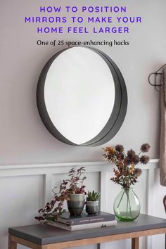 Check out these 25 ways you can make your home feel larger and more spacious and function better Bright Colored Furniture, Colorful Furniture, Rustic Ladder, Multifunctional Furniture, Light And Space, Glass Dining Table, Kitchen Units, Classic Interior, Round Mirrors