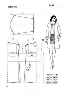 Drop-should jacket sewing pattern Easy Sewing Patterns, Coat Patterns, Clothing Patterns, Dress Patterns, Sewing Coat, Sewing Clothes, Aya Couture, Diy Vetement, Modelista