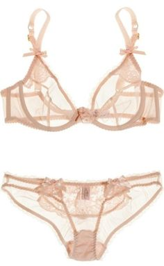 a nice alternative to black.. sheer blush..which looks as though you are wearing..nothing. lingerie: agent provocateur.❤