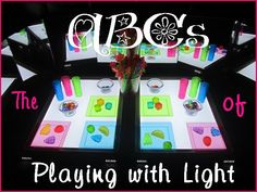 The ABC's of playing with light with nearly 1000 playing with light activities! ~*~*~* From Kid Blogger Network's Alphabet series with 70 KBN bloggers featured!!  Pinned ont
