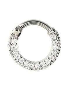 <p>Add a little sparkle in your life.Silver tone 316L surgical steel septum ring with clear CZ accents.</p>  <ul> <li>14G</li> <li>316L surgical steel</li> <li>Imported</li> </ul>