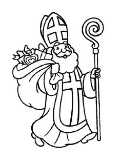 Nicholas, with his staff and a bag of toys. Saint Nicholas is a religious figure. Prim Christmas, Father Christmas, Retro Christmas, Christmas Colors, Christmas Themes, Christmas Crafts, Led Tealight Candles, Color Crafts, Saint Nicholas