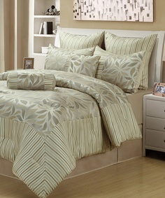 Take a look at this Sage Pinwheel Comforter Set by Beatrice Home on #zulily today!