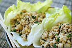 asian lettuce wrap - low carb, low calorie snack ideas - at womensdietnetwork.com