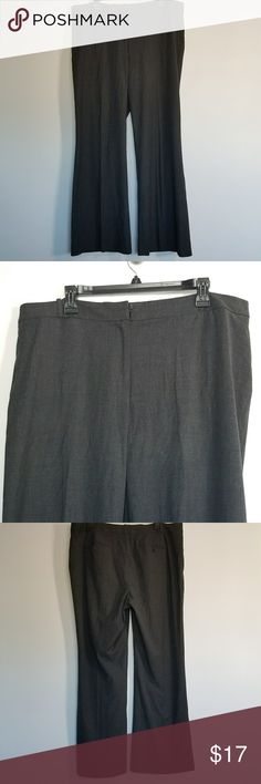 """Ann Taylor Loft 16T Charcoal/ Dark Gray Ann Taylor Loft 16T charcoal/ dark gray wide leg trousers career pants   Condition: used without flaws  Measurements: waist 18"""" 1/2 Inseam: 31 Front Rise: 11 1/2 LOFT Pants"""