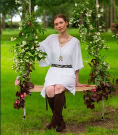 Rachael On The Flower Swing For North Norfolk Living Photoshoot At Our Beautiful Venue