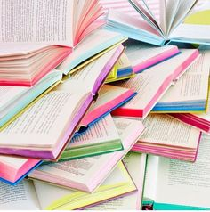 Color the edges of your books with marker to add color to studying