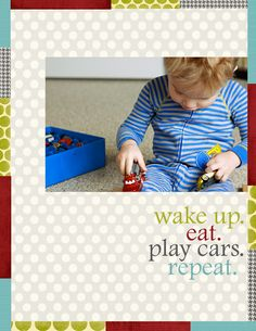 Love the light pokadot paper ---reminds me of the Snack Nap Read poster in our playroom. By Marie Taylor @ WCS