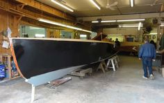 """Clark Boats. 37 foot elephantine race boat named """"Spirit"""". Designed by Steve Killing using George Crouch's (Ditchburn built) Rainbow I design as inspiration, """"Spirit"""" is powered by twin (that's not a typo) 625 horse Ilmor engines!"""