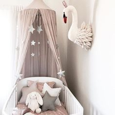 Baby room ideas for twins nursery room ideas girl swan baby girl nursery ideas twin girl Baby Bedroom, Baby Room Decor, Girls Bedroom, Girl Decor, Baby Room Grey, Baby Girl Rooms, Girl Nursery Decor, Baby Girl Nursery Bedding, Nursery Decor
