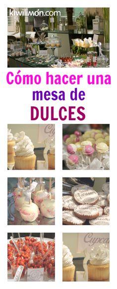Las mesas de dulces son perfectas para complementar fiestas infantiles, primeras comuniones y bodas. Sigue este paso a paso y aprende a montar tus propias mesas de dulces.