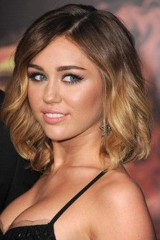 Good Ombre on short hair. Not a huge Miley fan but I like this cut.