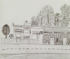 McDonalds in the distance - Pencil only