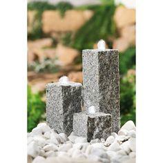 Neptun T graniittinen suihkukaivo - BIRO Oy Biro, Pillar Candles, Backyard, Gardening, Chemistry, Granite Counters, Patio, Lawn And Garden, Backyards