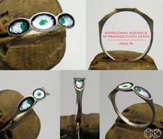 Silberschmuck - Silber Ring mit Emaille Nr.15 von MartaRudnicka auf DaWanda.com