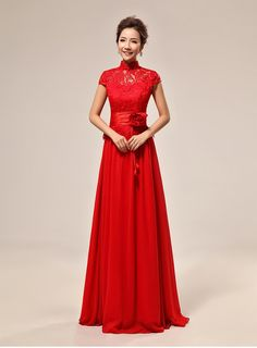 Cheap red chinese dress, Buy Quality chinese dress directly from China chinese dress style Suppliers: Shanghai Story new sale Chinese style Red Chinese dress Wedding Sexy cheongsam High Quality lace Bridal A line Dress for woman Red Wedding Dresses, Wedding Dress Train, Tea Length Wedding Dress, Formal Dresses For Weddings, Lace Evening Dresses, Designer Wedding Dresses, Sexy Dresses, Dress Formal, Lace Dresses