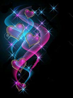 Decorative shiny hearts and stars photo Butterfly Wallpaper, Heart Wallpaper, Love Wallpaper, Cellphone Wallpaper, Wallpaper Backgrounds, Iphone Wallpaper, Heart Art, Love Heart, Heart Images