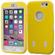 """myLife Layered Protection """"Built In Screen Protector"""" Heavy Duty Case for iPhone 6 Plus (5.5"""" Inch) by Apple {Banana Yellow + Eggshell White """"Rubberized Tuff Duo"""" Three Piece SECURE-Fit Rubberized Gel} myLife Brand Products http://www.amazon.com/dp/B00QKYIPDY/ref=cm_sw_r_pi_dp_UXIHub1AAH0R9"""