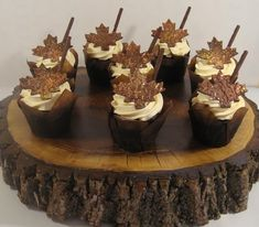 Oh, Canada!  Chocolate Maple Leaf Cupcakes
