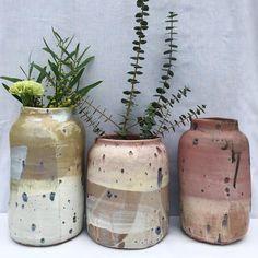 """@mariongrauxpoterie) on Instagram: """"Série de vases"""""""