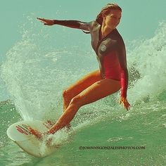 Camille Brady laying into a very graceful cutback.
